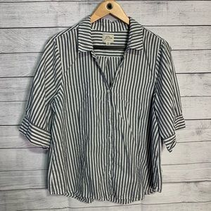 J.crew short sleeve striped button up